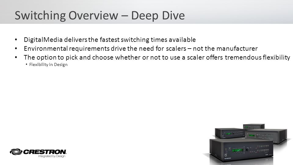 Switching Overview – Deep Dive