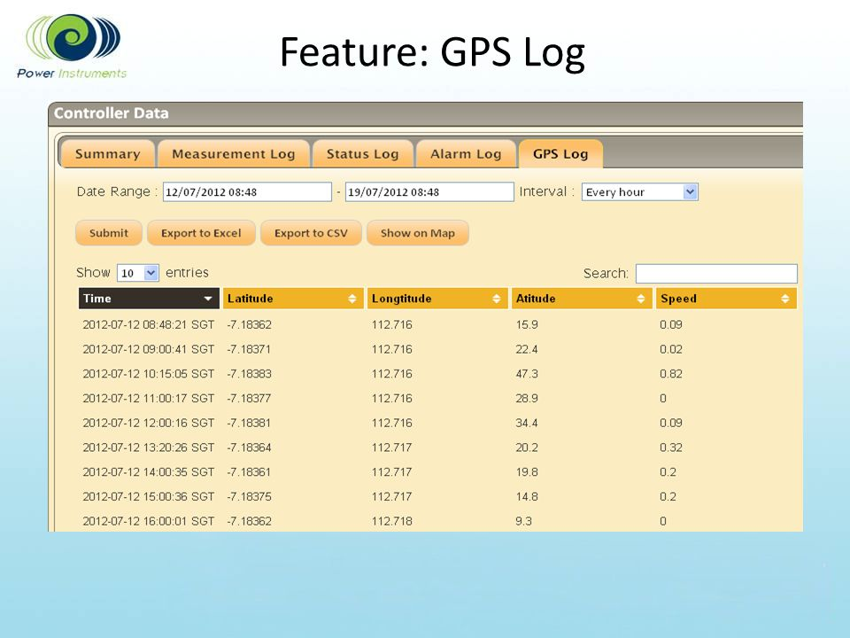 Feature: GPS Log