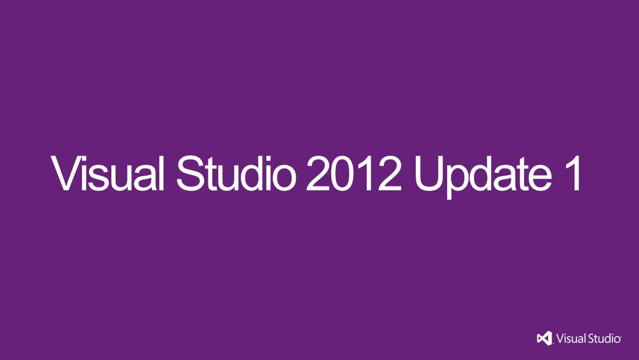 Visual Studio 2012 Update 1 Visual Studio 11 3/31/2017