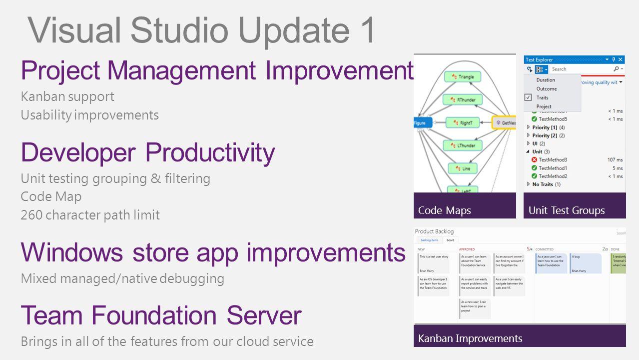 Visual Studio Update 1 Project Management Improvements