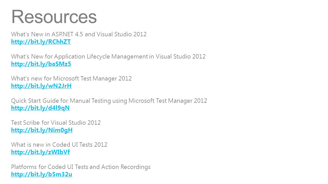 Resources What s New in ASP.NET 4.5 and Visual Studio 2012