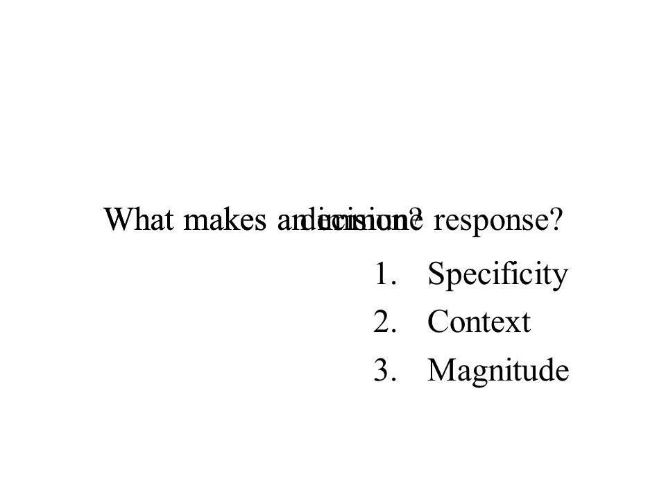 What makes an immune response