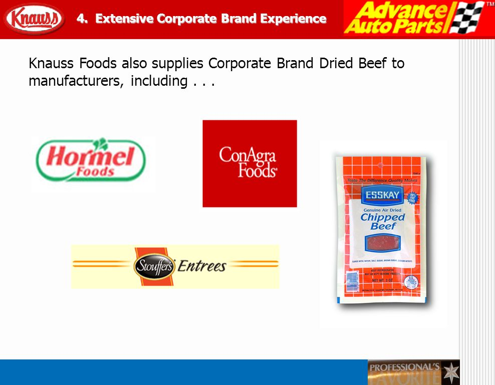 4. Extensive Corporate Brand Experience
