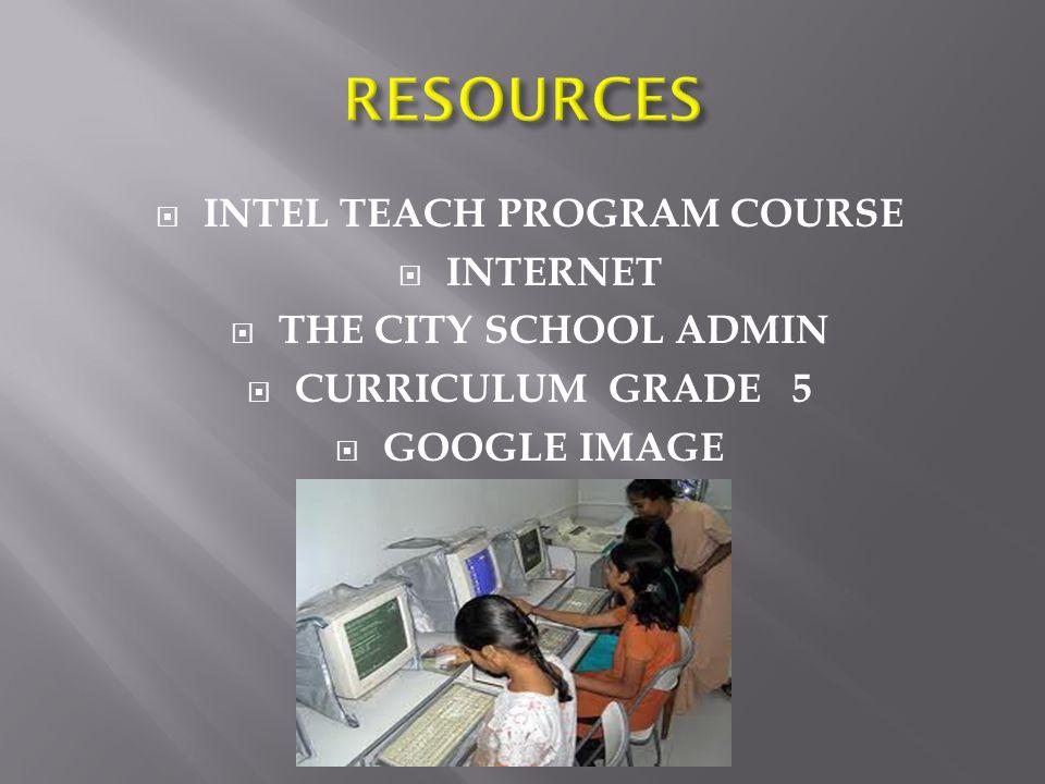 INTEL TEACH PROGRAM COURSE