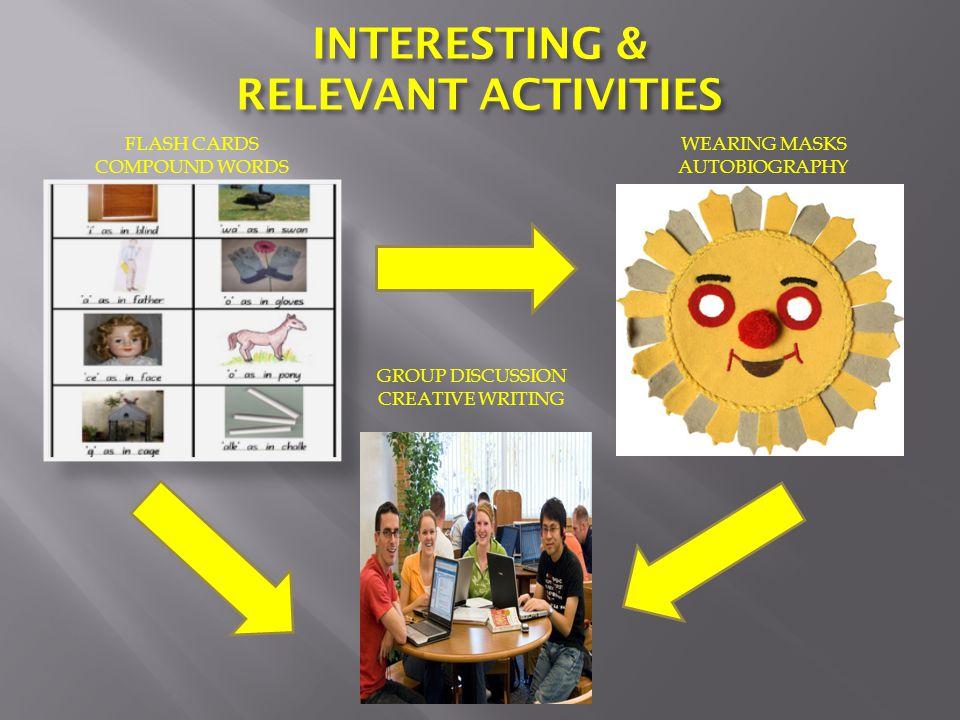 INTERESTING & RELEVANT ACTIVITIES