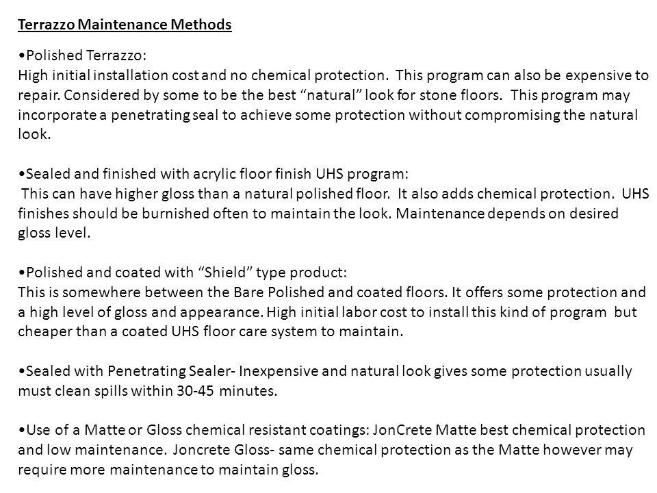 Terrazzo Maintenance Methods