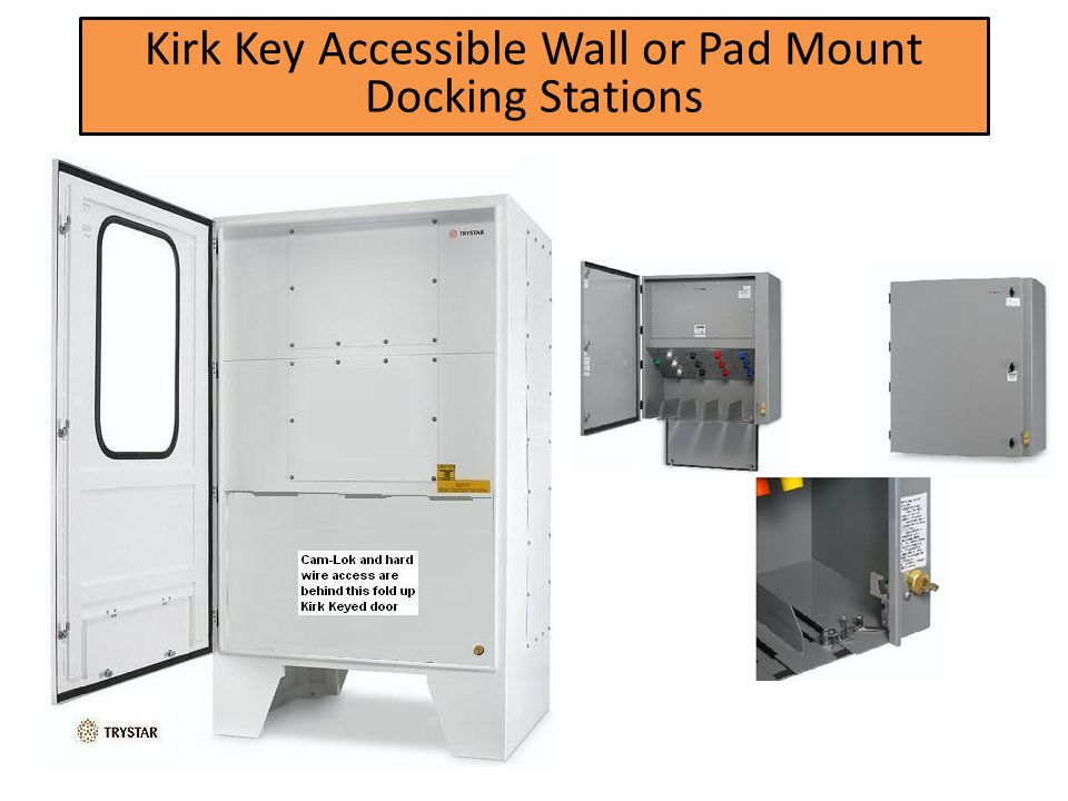 Kirk Key Accessible Wall or Pad Mount Docking Stations