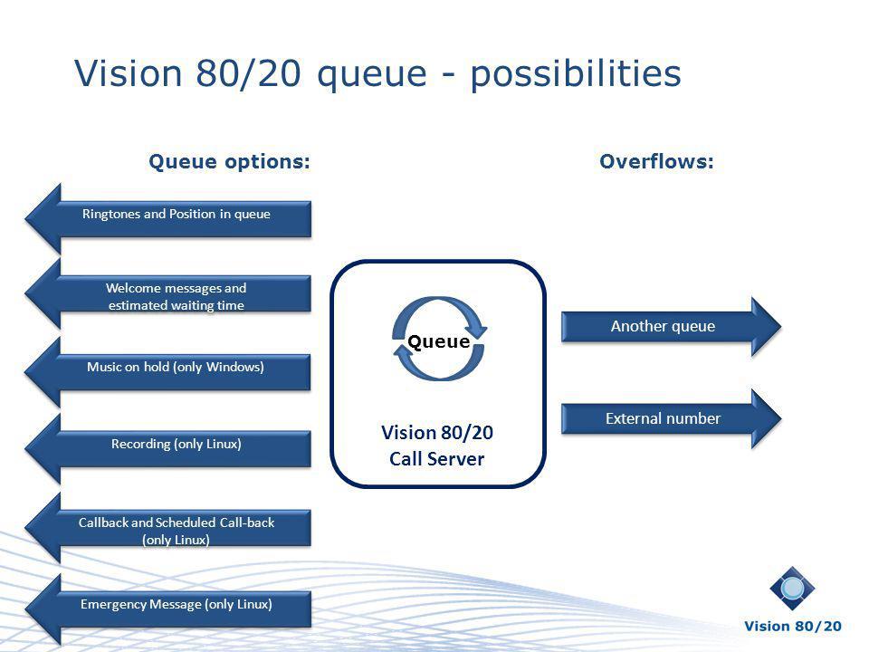 Vision 80/20 queue - possibilities
