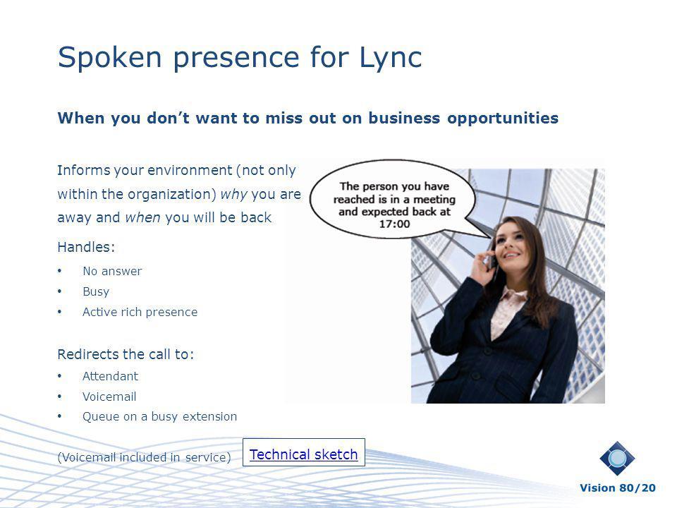 Spoken presence for Lync