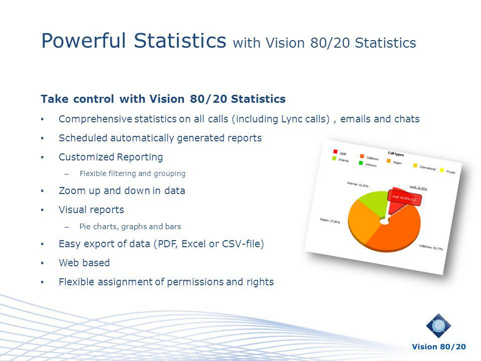 Powerful Statistics with Vision 80/20 Statistics