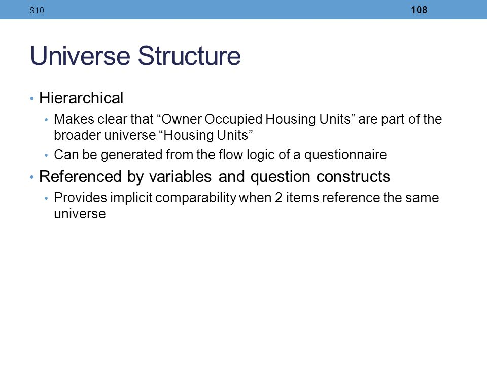 Universe Structure Hierarchical