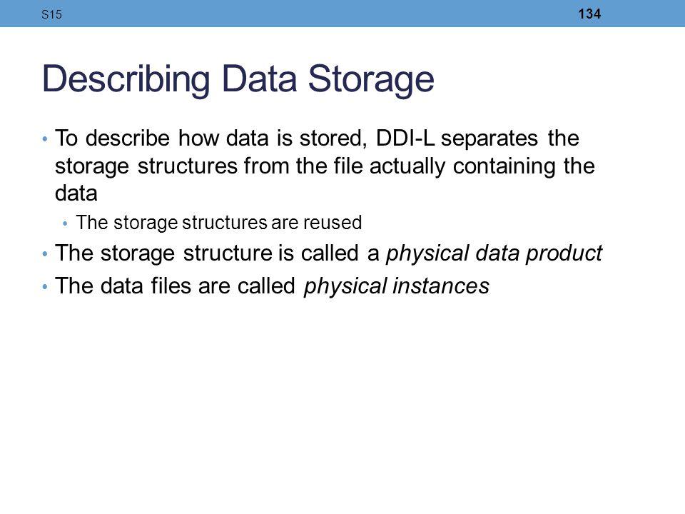 Describing Data Storage