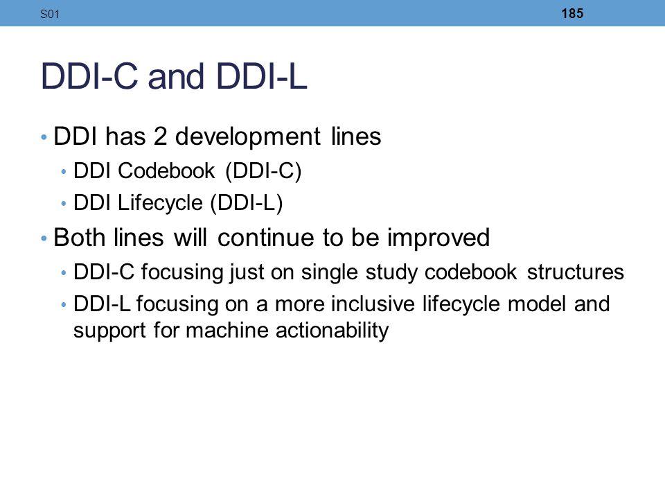 DDI-C and DDI-L DDI has 2 development lines