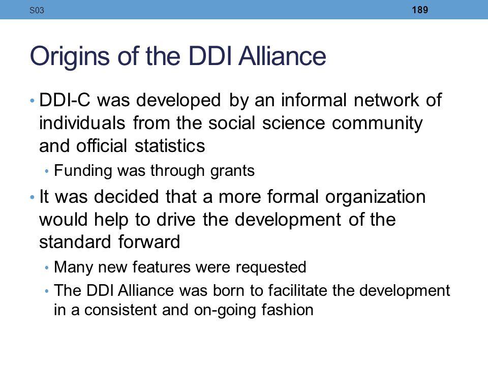 Origins of the DDI Alliance