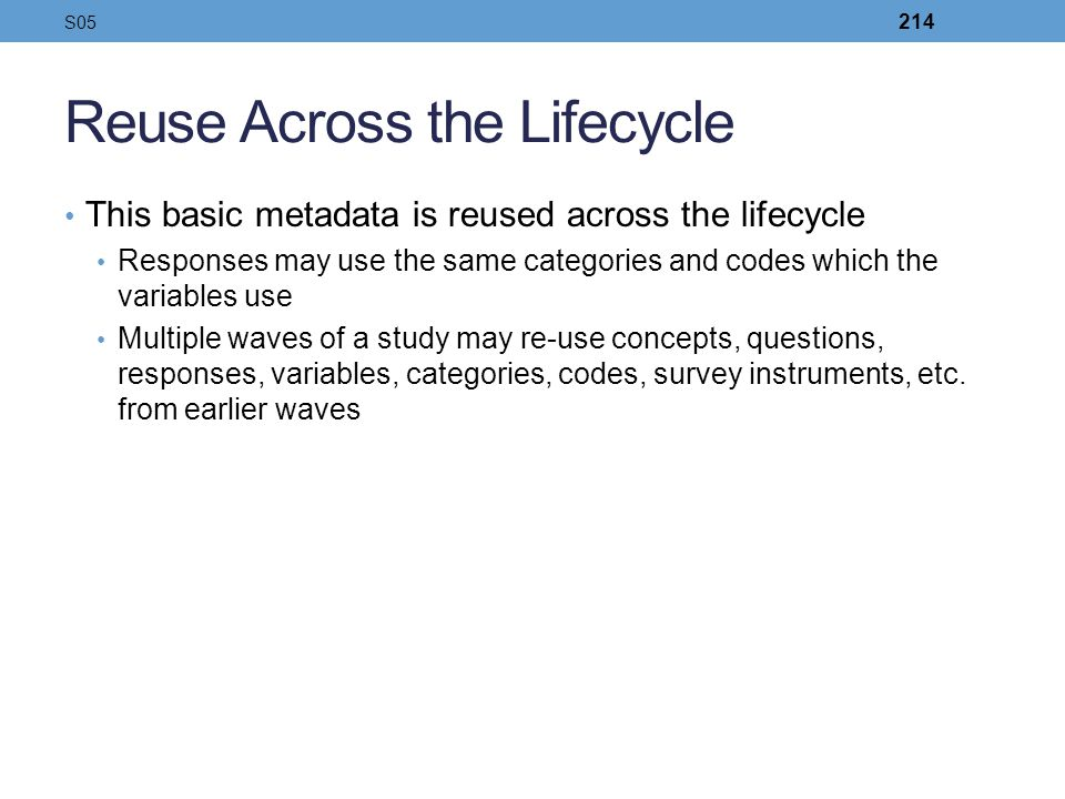 Reuse Across the Lifecycle