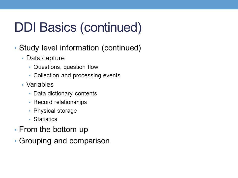 DDI Basics (continued)