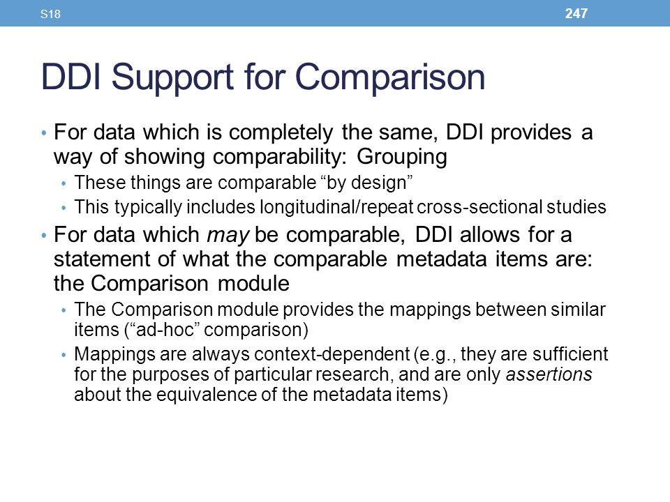 DDI Support for Comparison