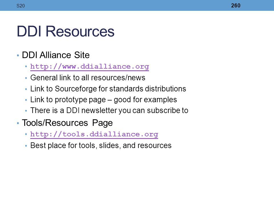 DDI Resources DDI Alliance Site Tools/Resources Page