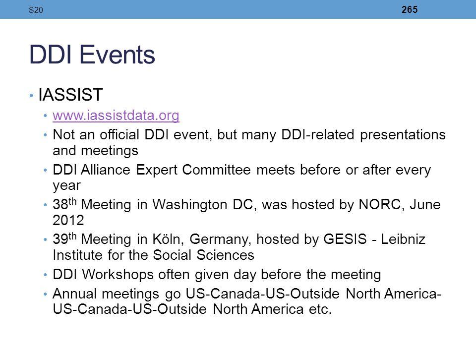 DDI Events IASSIST www.iassistdata.org