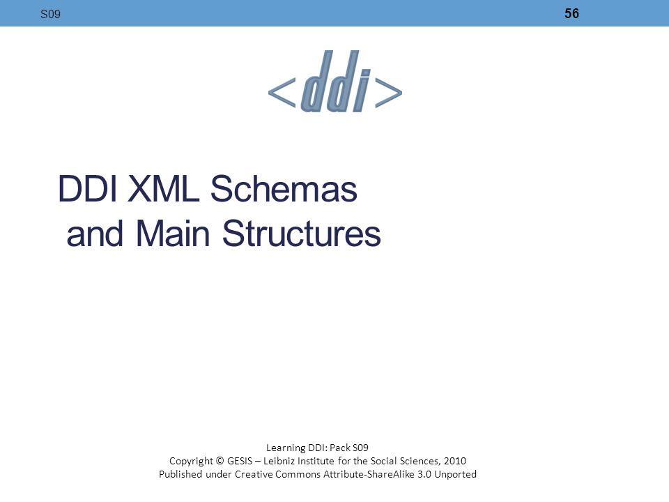 DDI XML Schemas and Main Structures