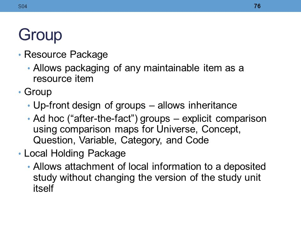 Group Resource Package