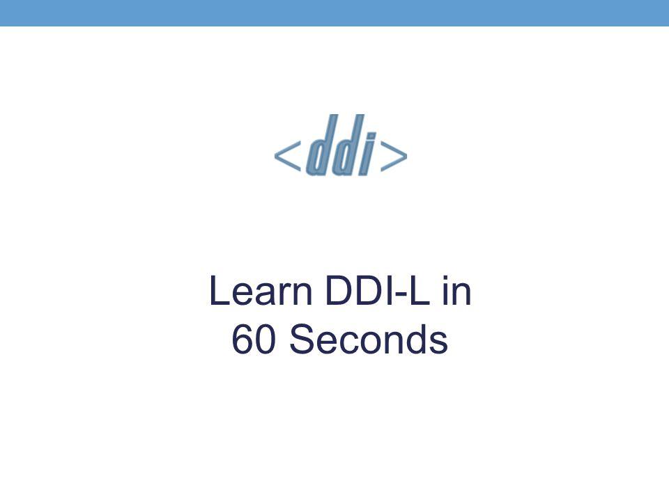 Learn DDI-L in 60 Seconds