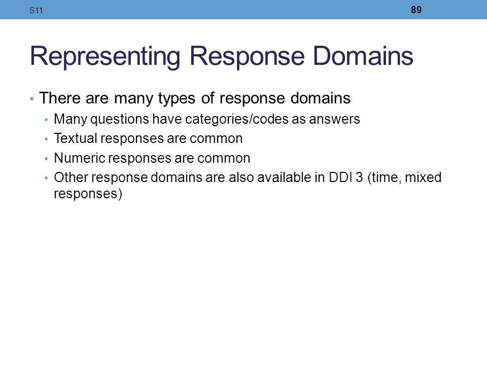 Representing Response Domains