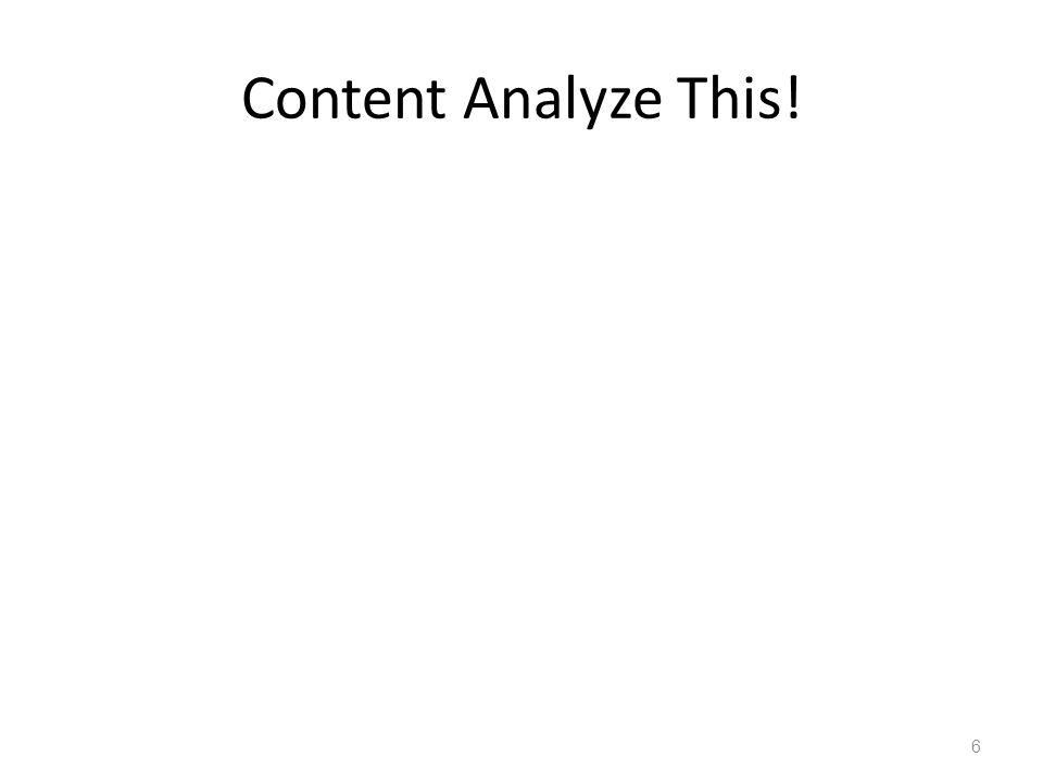 Content Analyze This!