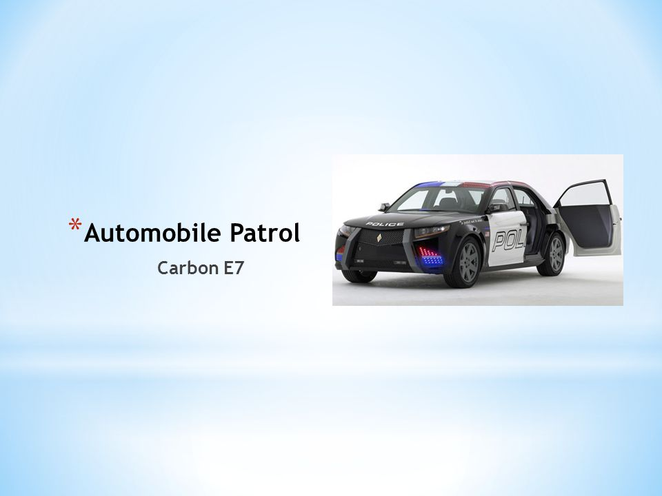 Automobile Patrol Carbon E7