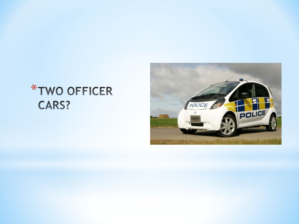 TWO OFFICER CARS
