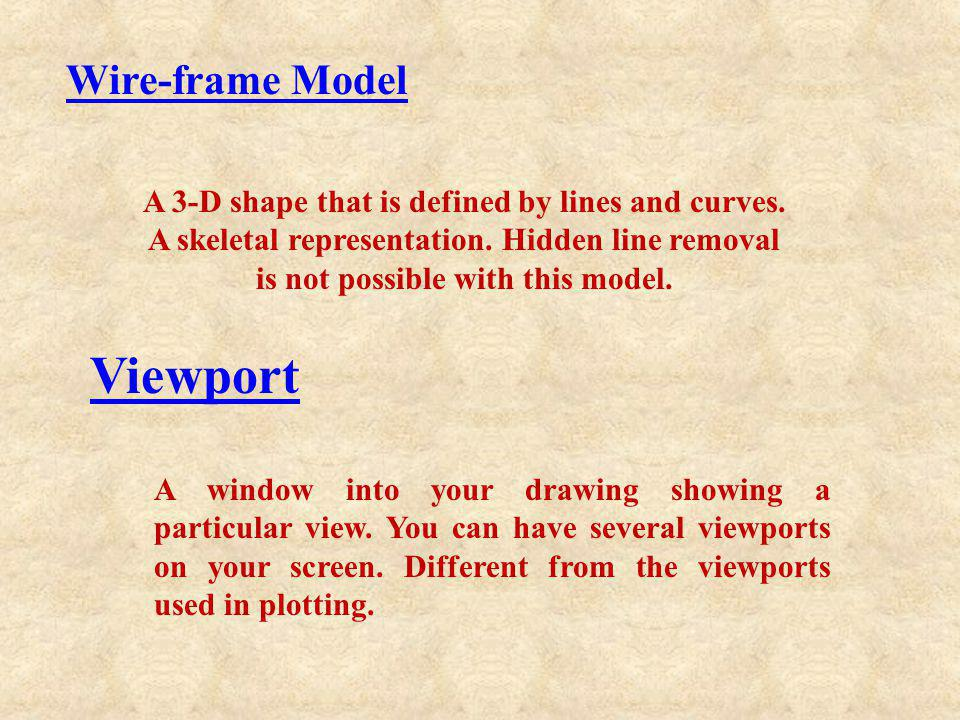 Viewport Wire-frame Model