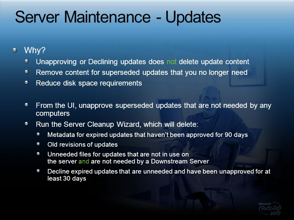 Server Maintenance - Updates