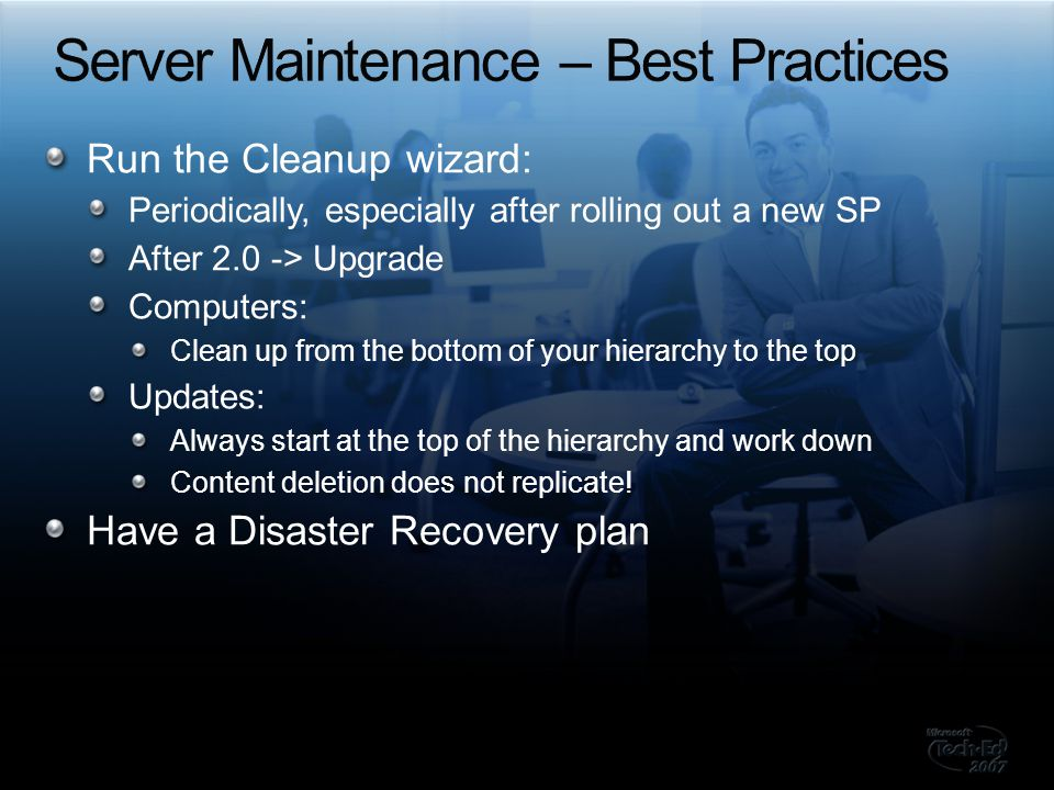 Server Maintenance – Best Practices