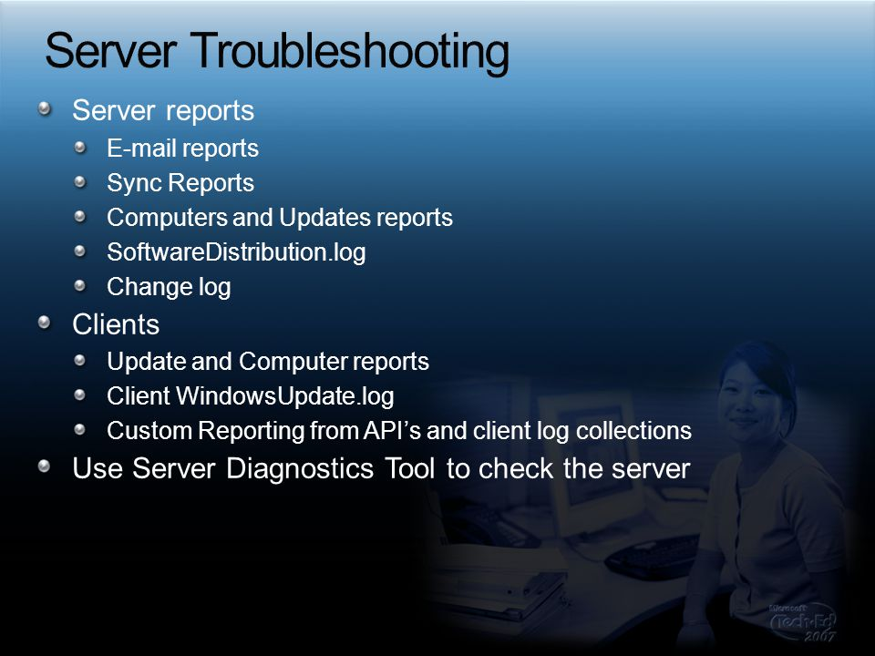 Server Troubleshooting