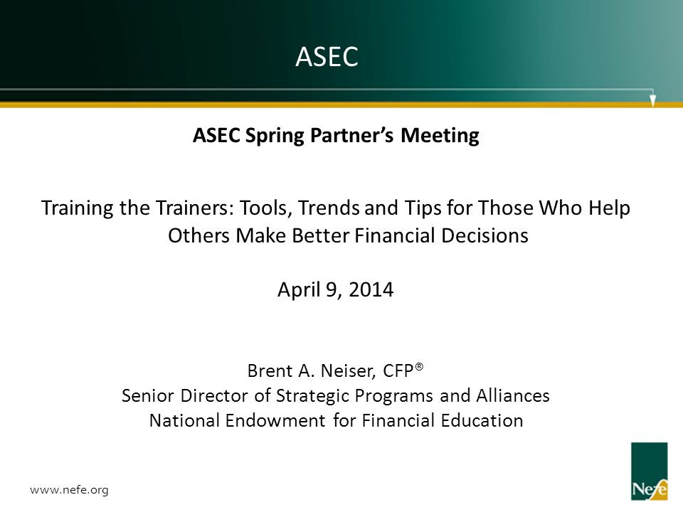 ASEC Spring Partner's Meeting