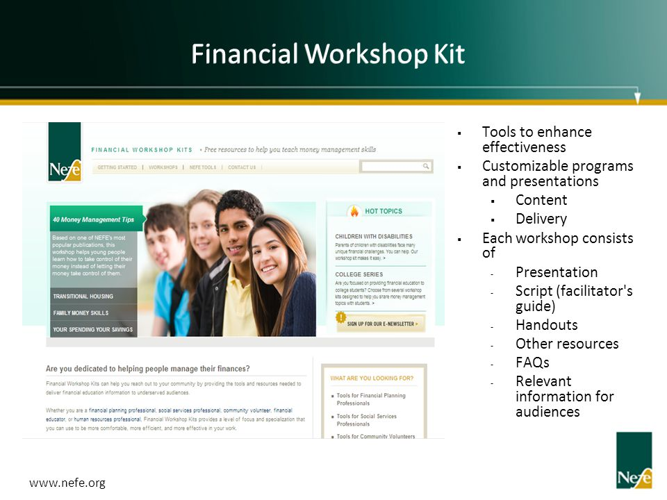 Financial Workshop Kit