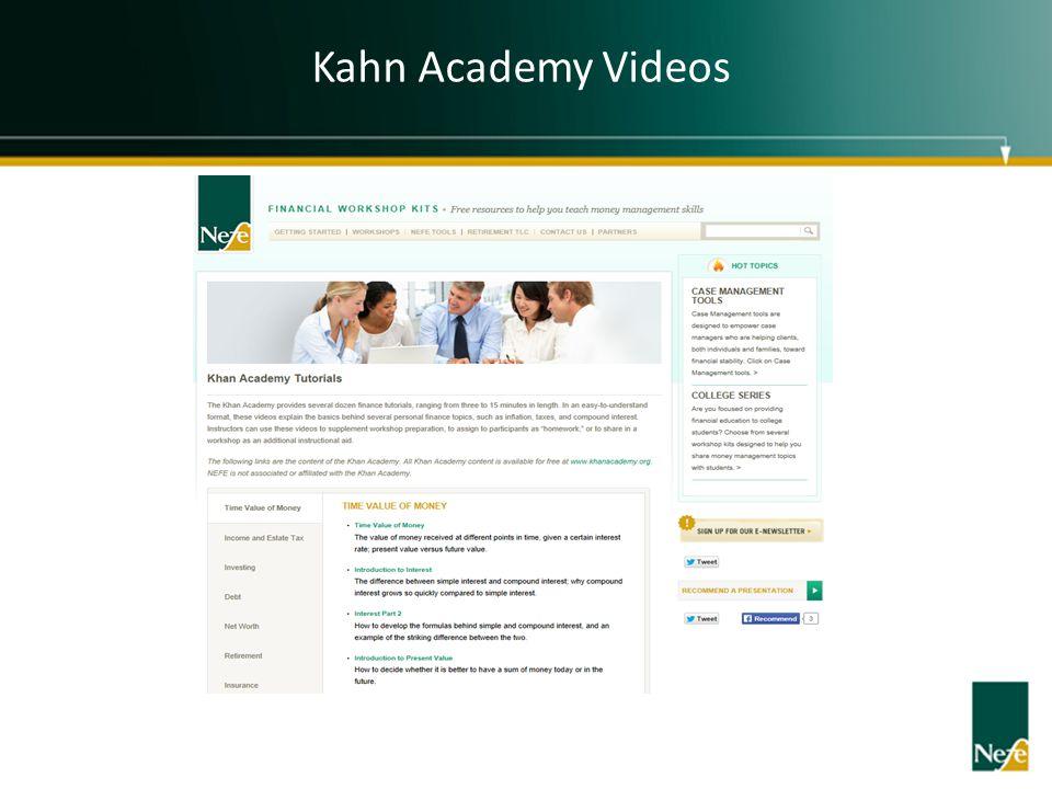 Kahn Academy Videos