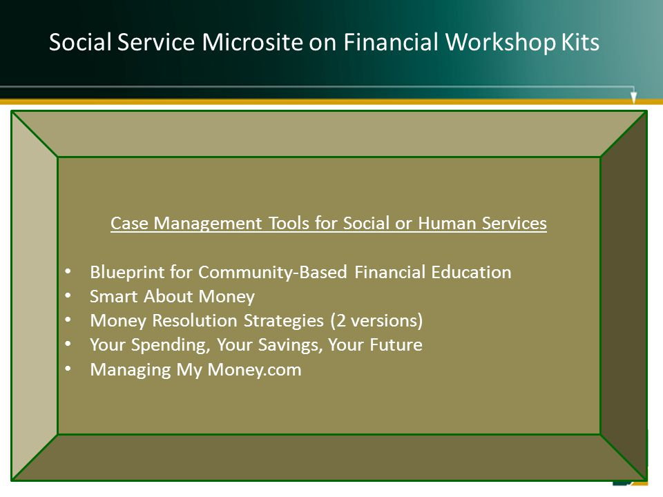 Social Service Microsite on Financial Workshop Kits