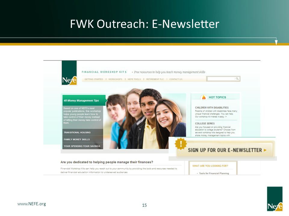 FWK Outreach: E-Newsletter