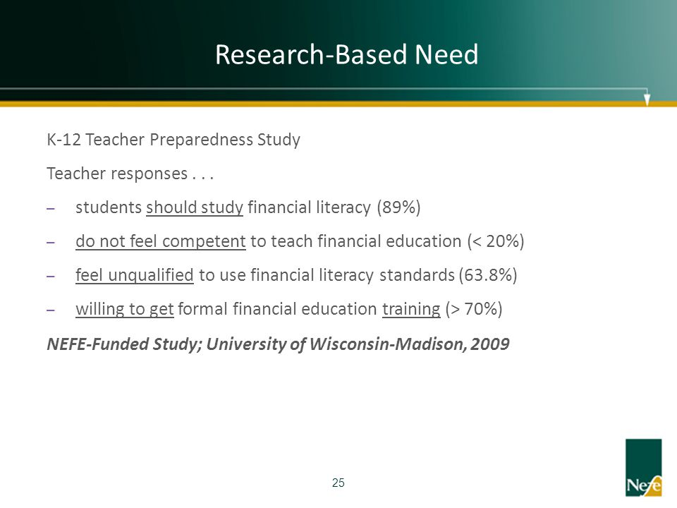 Research-Based Need K-12 Teacher Preparedness Study
