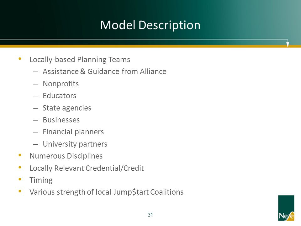 Model Description Locally-based Planning Teams