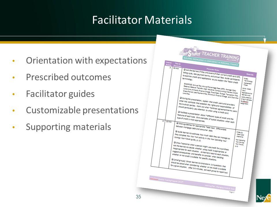 Facilitator Materials