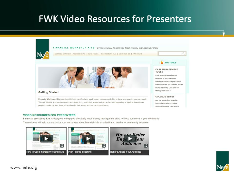 FWK Video Resources for Presenters