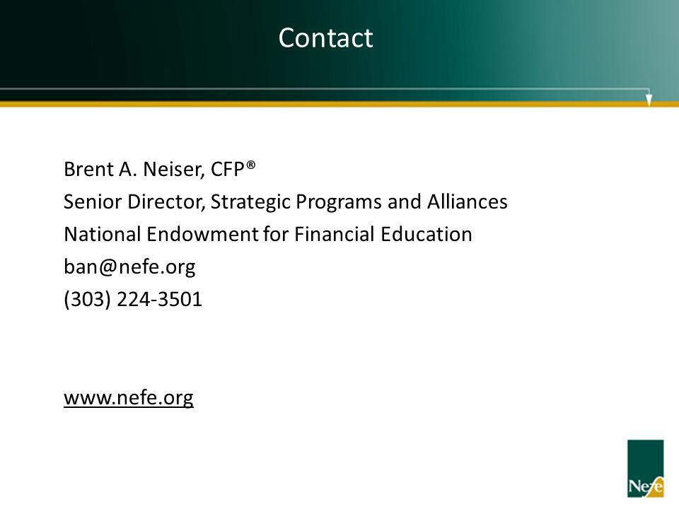 Contact Brent A. Neiser, CFP®
