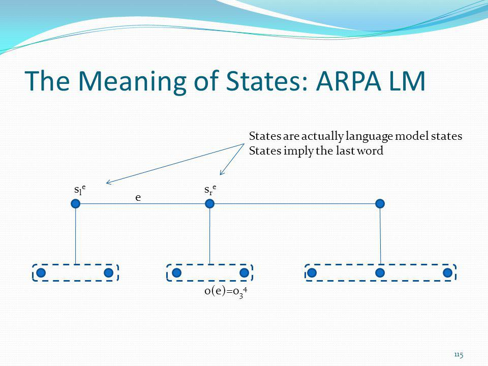 The Meaning of States: ARPA LM