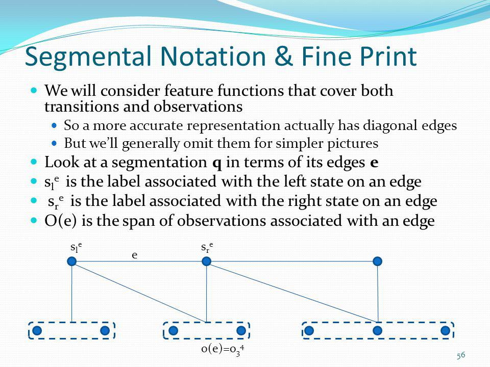 Segmental Notation & Fine Print