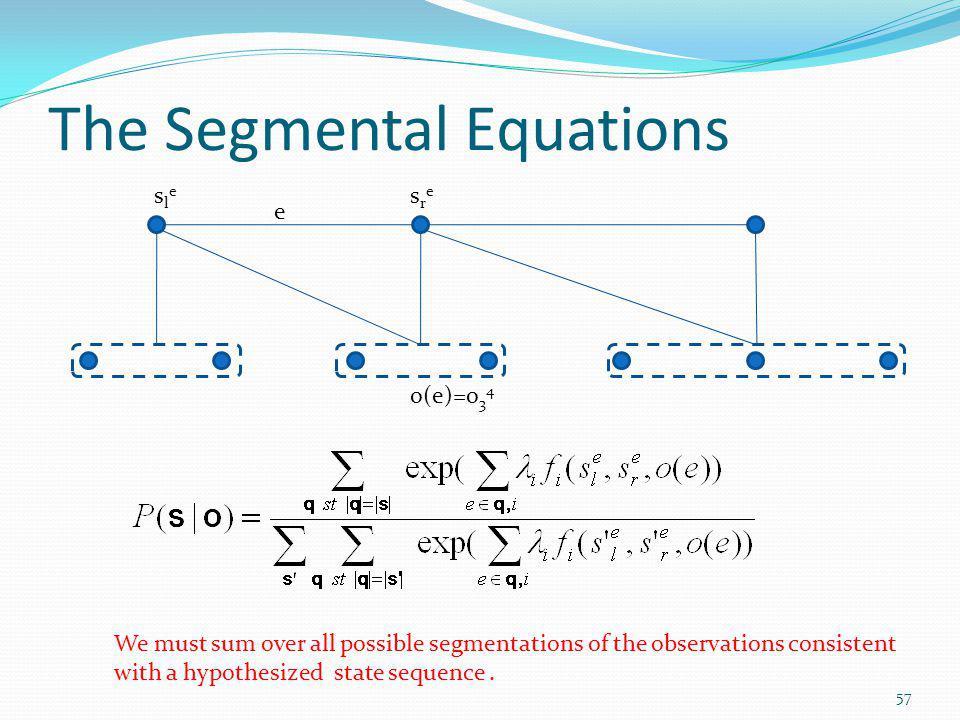 The Segmental Equations