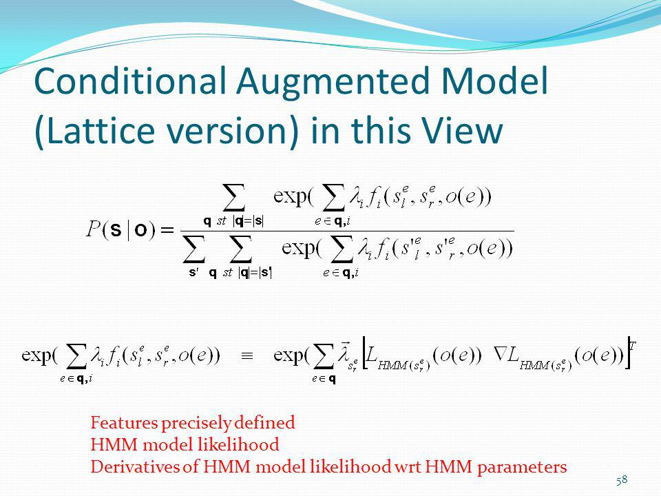 Conditional Augmented Model (Lattice version) in this View