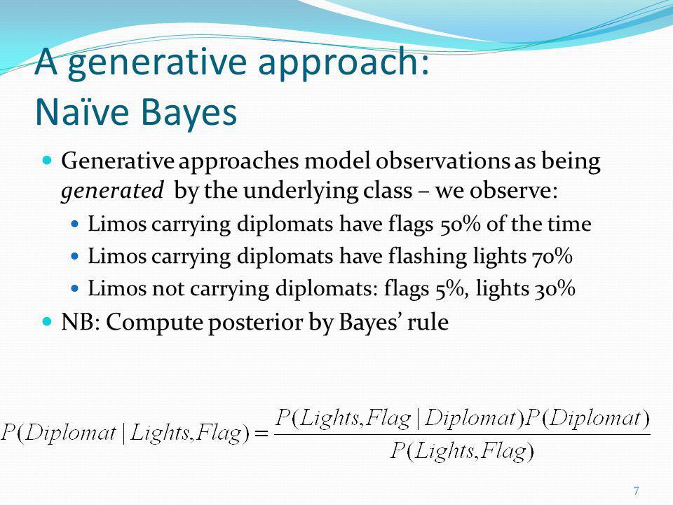 A generative approach: Naïve Bayes