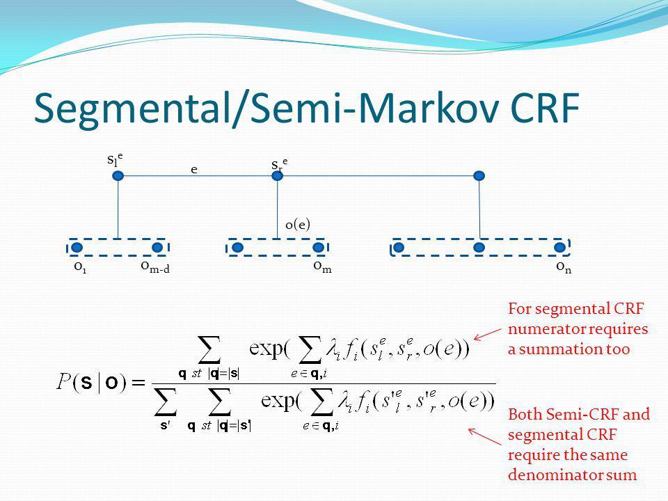 Segmental/Semi-Markov CRF